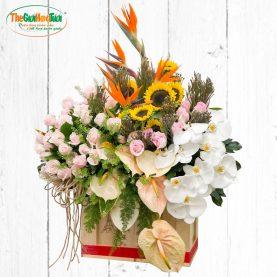 Lẵng Hoa Chúc Mừng - Thành Công