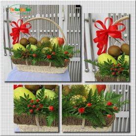 Giỏ trái cây và hoa - Niềm vui