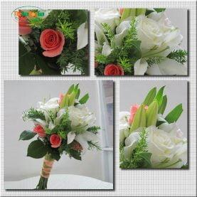 Bó hoa cầm tay lãng mạn