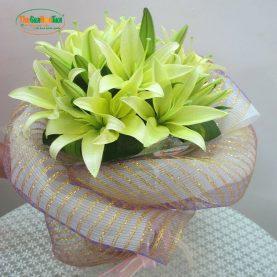 Bó hoa Lily vàng