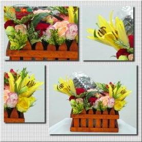 Giỏ Cherry 1kg và hoa