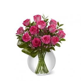 Bó hoa hồng thả bình Valentine
