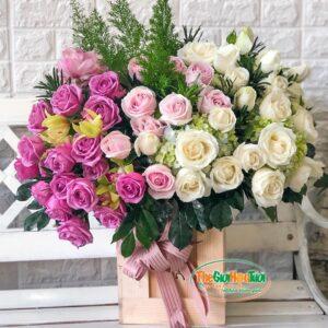 Giỏ hoa- Lời yêu thương