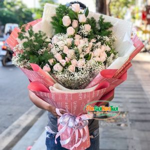 Bó hoa hồng- Sắc hồng
