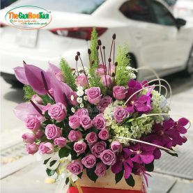 Giỏ hoa hồng - Dấu yêu