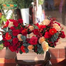 Giỏ hoa - Gõ cửa trái tim - TGHT-20026