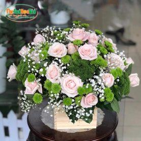 Giỏ hoa hồng - Lời tỏ tình - TGHT-20027