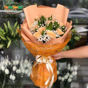 Bó hoa hồng rực rỡ - Sắc Cam