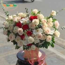 Giỏ hoa hồng - Yêu Say đắm - TGHT-001395