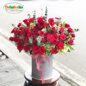 Giỏ hoa hồng - Mật ngọt tình yêu - TGHT-20032