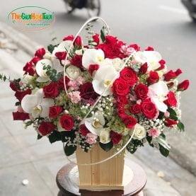 Giỏ hoa hồng-Thương nhớ-TGHT-20036