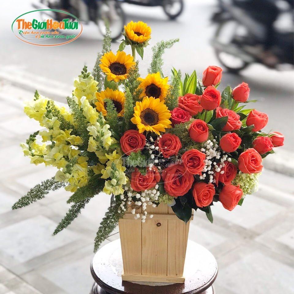 Giỏ hoa-Ngày mới-TGHT-20037