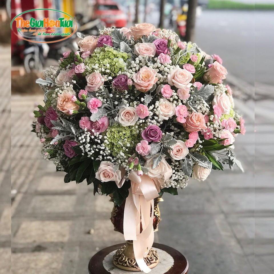 Bình hoa hồng-Sắc hồng ngọt ngào-TGHT-20040
